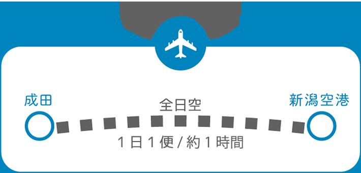 東京から新潟へ 飛行機の場合