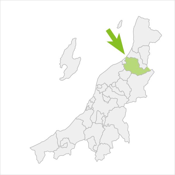 新発田市の位置